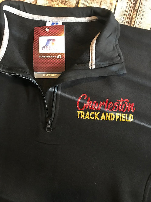 quarter zip with Charleston track and field