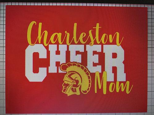 Charleston cheer mom with Trojan head