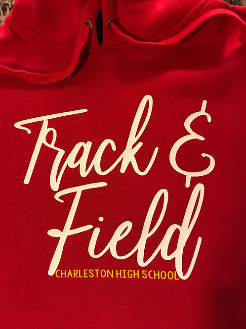 Track and field shirt and sweatshirt