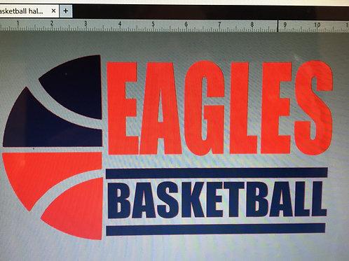 Eagles Basketball with half ball