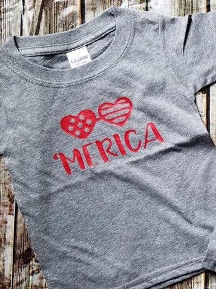 'Merica Love Gray T