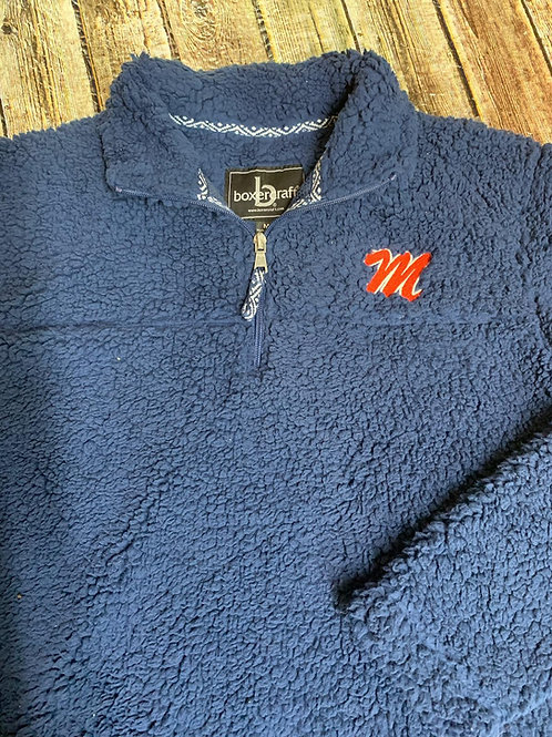 Sherpa 1/4 zip embroidered