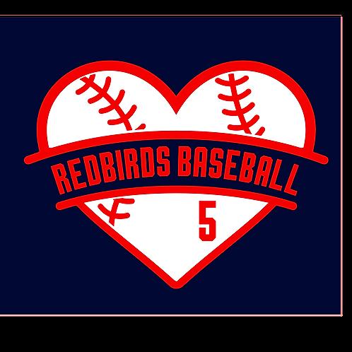 Redbirds with heart base