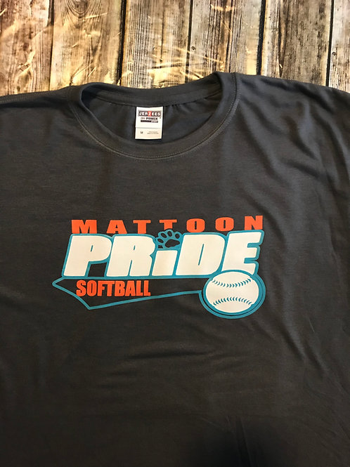 Classic Black T with Multi-Color Mattoon Pride Softbal Logo