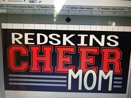 Cheer Mom with lines