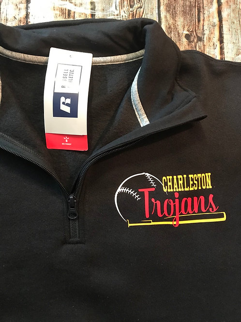 Charleston Baseball Quarter zip with pockets or without