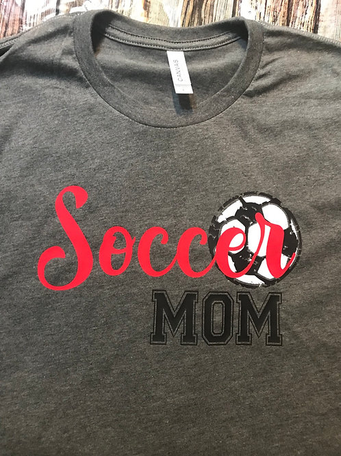 Soccer mom with ball
