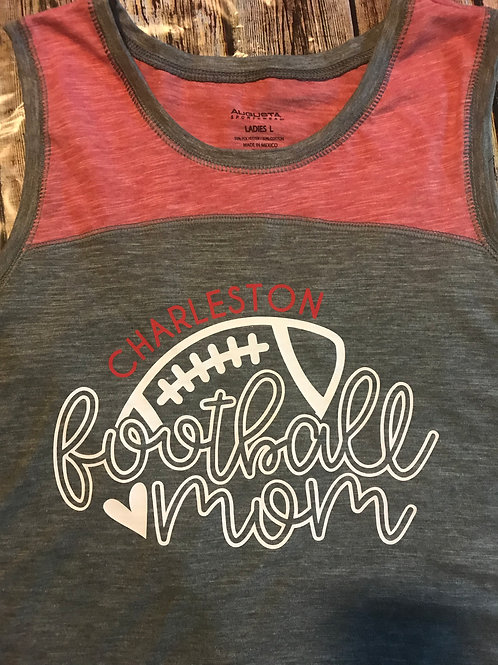 Football mom tank or shirt