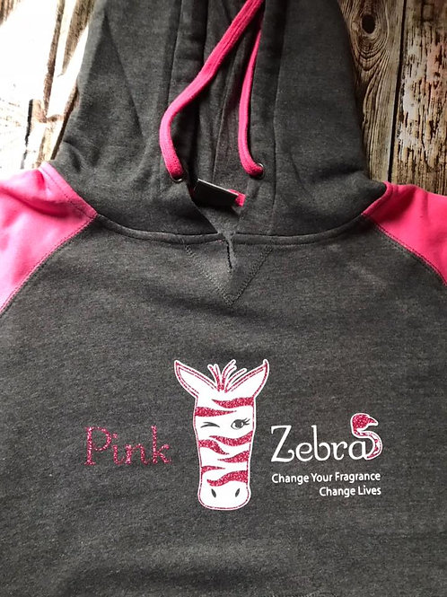 Pink and Gray Hoodie