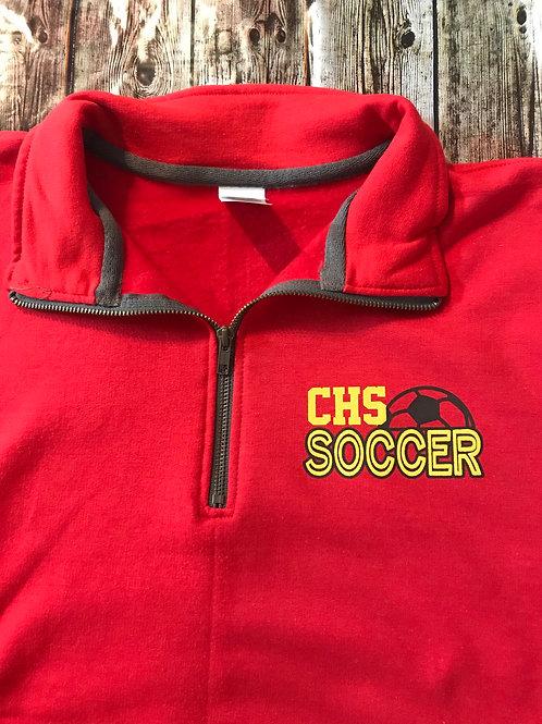 2020 Girls Soccer quarter zip sweatshirt