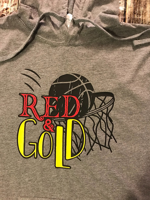 Red and gold basketball