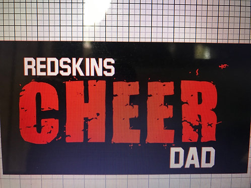 Redskins Cheer dad