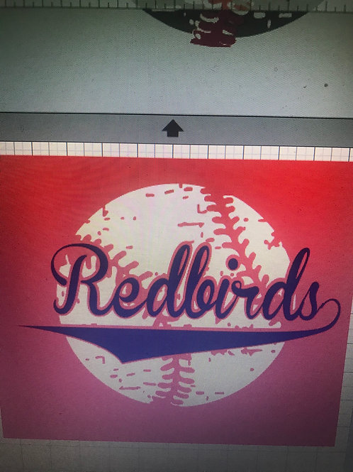 Redbirds with distressed ball