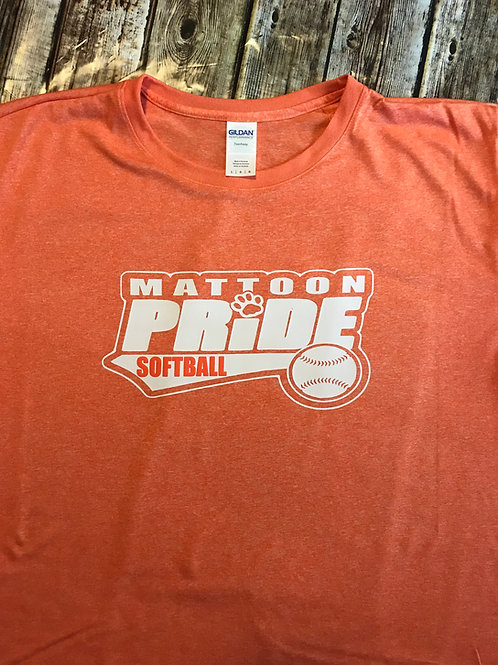 Mattoon Pride Classic Logo T in orange