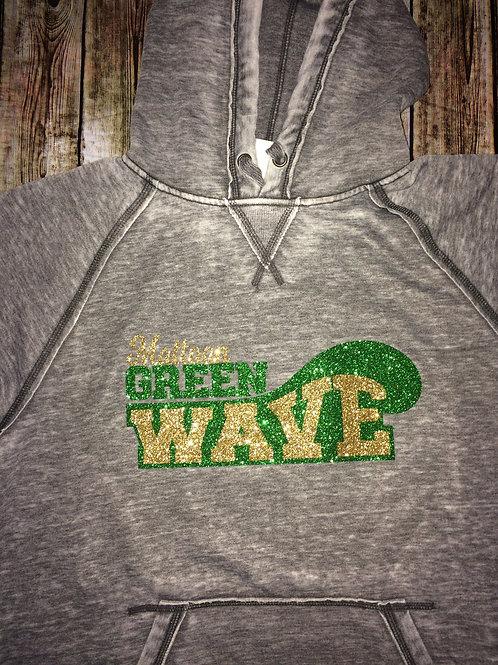 Classic 'Green Wave' Lightweight Hoodie