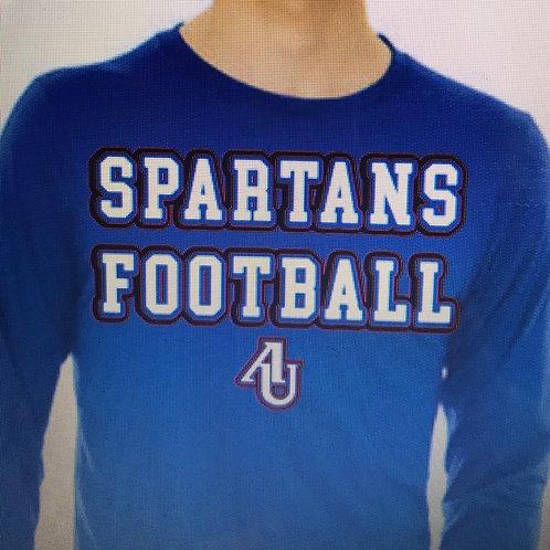 Spartans football in Varsity font
