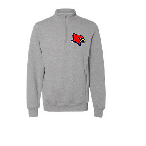 Redbirds Baseball Quarter zip with pockets or without