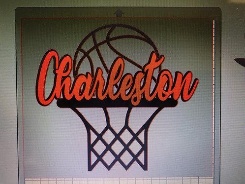 Charleston basketball with net