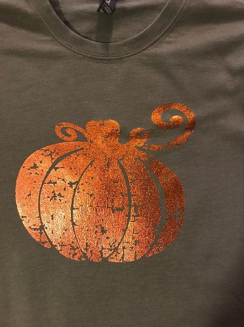 Distressed foil pumpkin