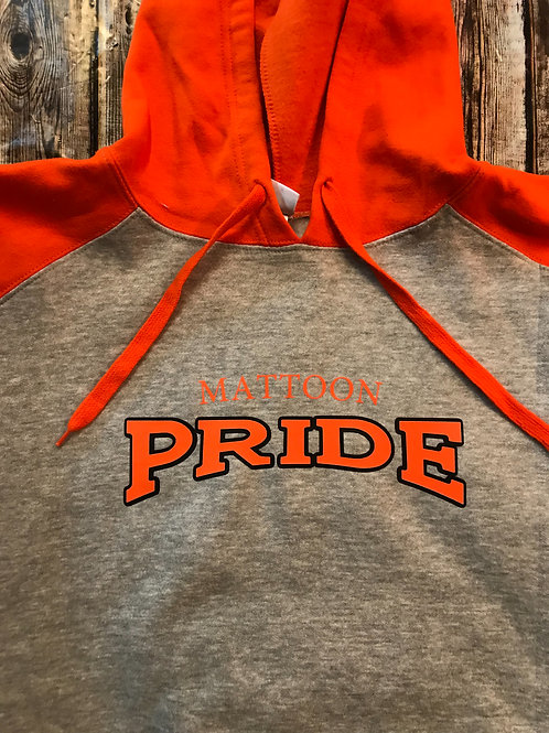 Team sweatshirt grey with orange sleeves