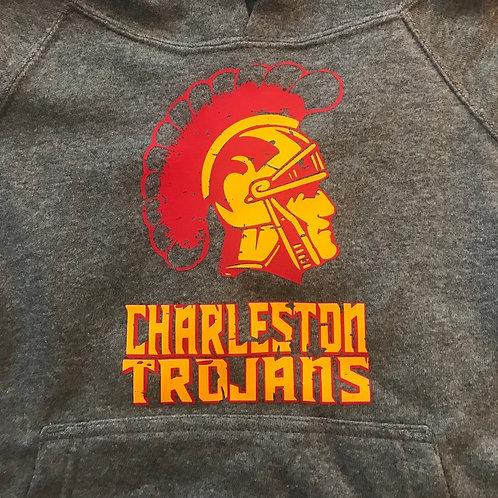 Charleston Trojans with distressed Trojan head