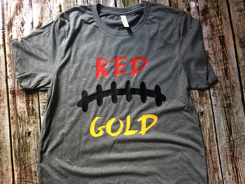 Red and Gold football