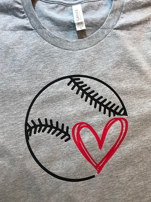 heart and baseball