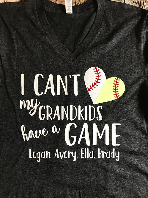 'My Grandkids have a Game' Graphic T