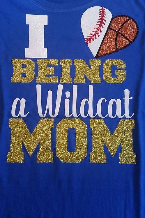 Multi Sport Mom Glitter T