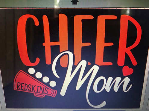 Cheer Mom with megaphone