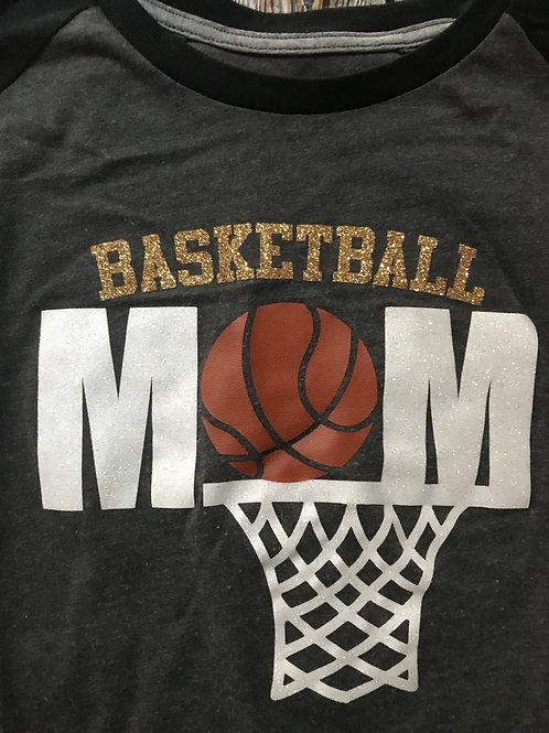 Basketball mom with hoop