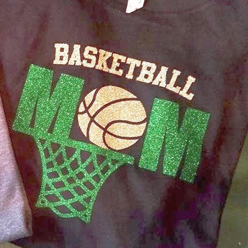 Basketball Mom Hoop and Ball Logo T