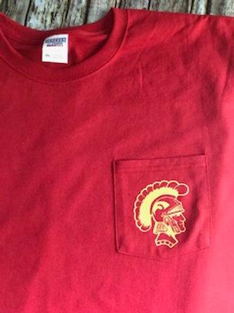 Trojan head pocket t-shirt