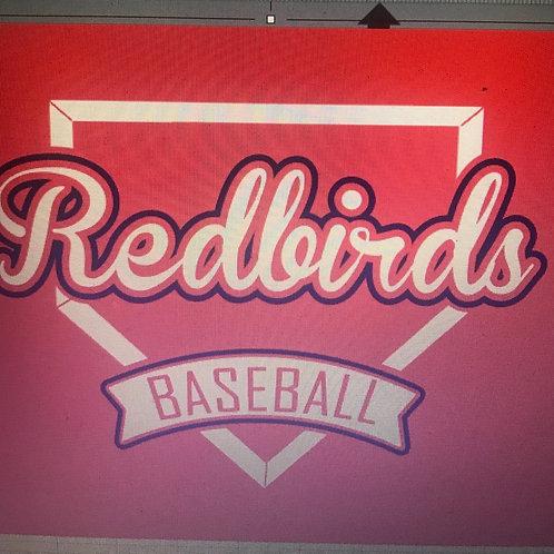 Redbirds baseball with base