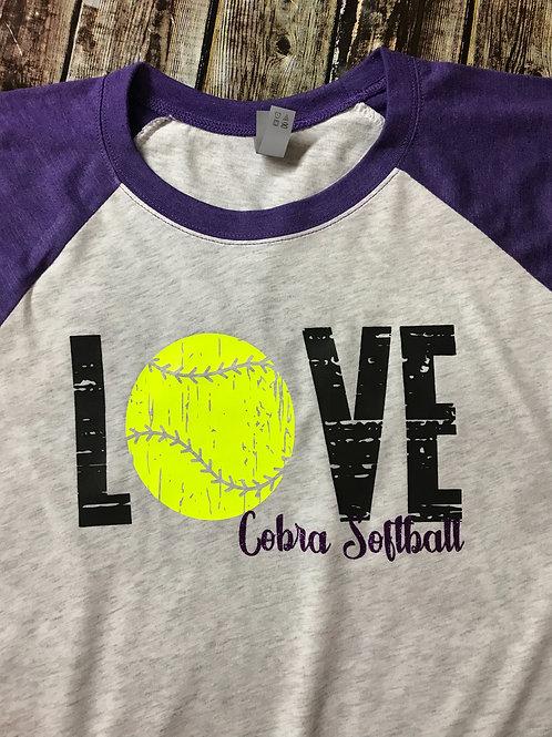 Love with softball