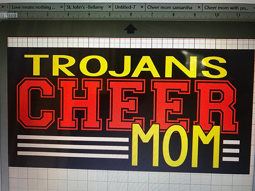 Trojans cheer mom