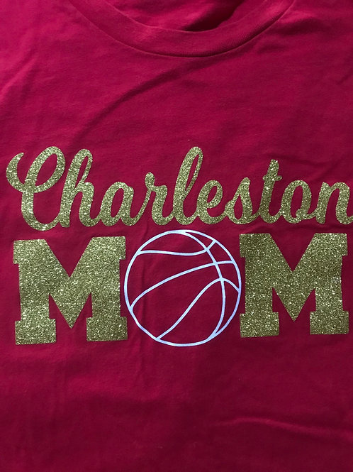 Charleston mom with basketball
