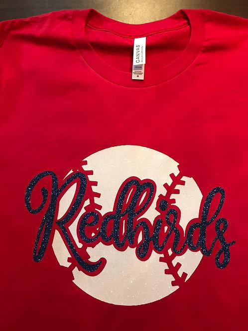 Redbirds with baseball