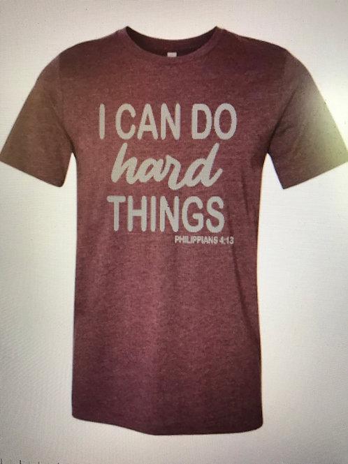 I can do hard things shirt