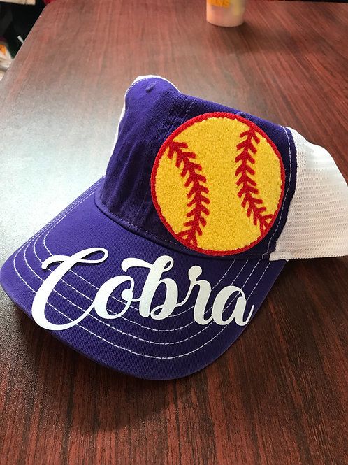 Cobra Chenille softball hat