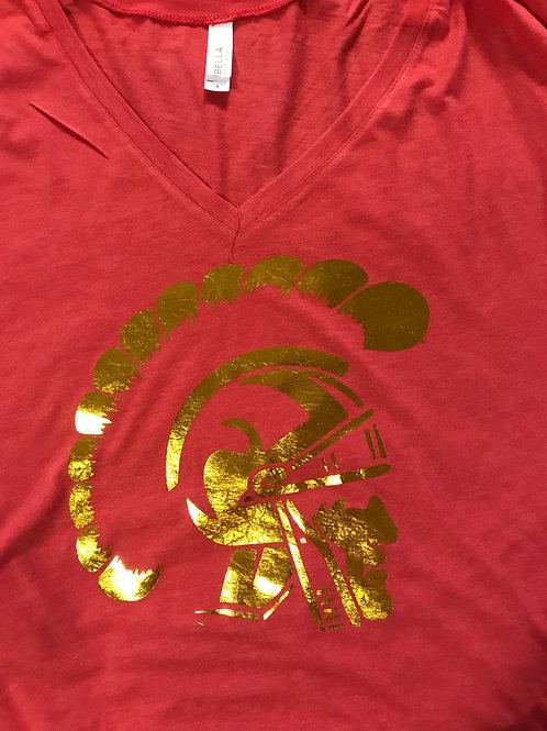 Gold foil trojan head