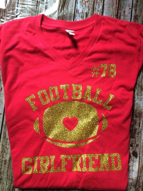 Glitter Football Girlfriend