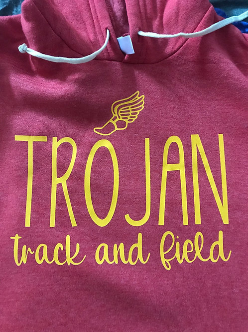 Soft and cozy track and field sweatshirt
