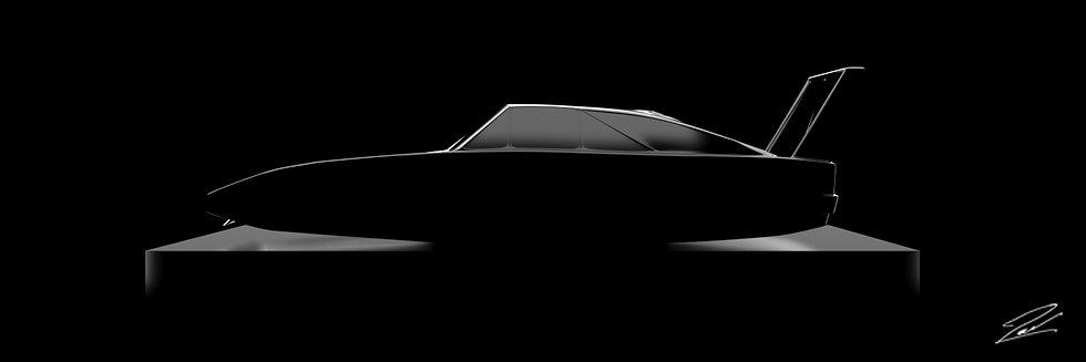 Dodge Charger Daytona 75cmx25cm