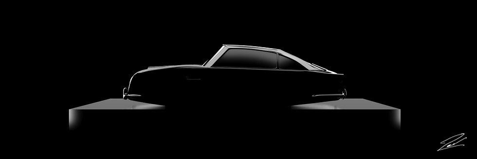 Aston Martin DB5 75cmx25cm
