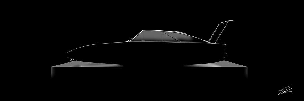 Dodge Charger Daytona 105cmx35cm