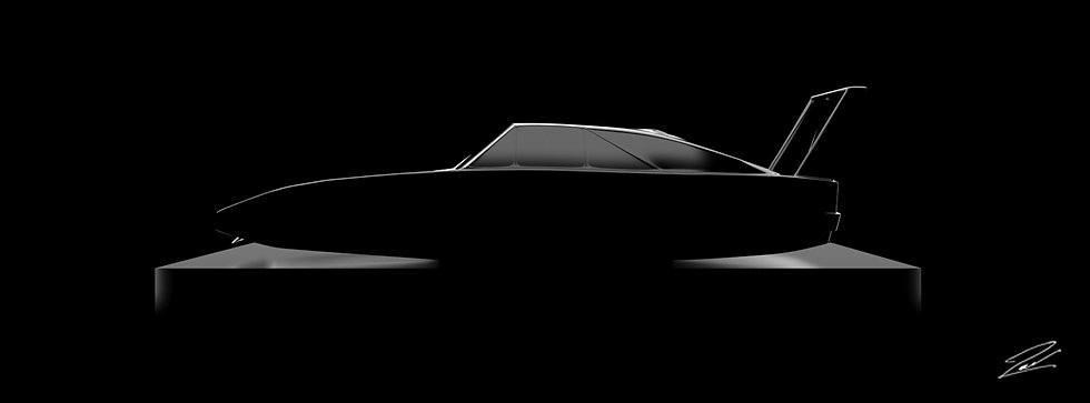 Dodge Charger Daytona 135cmx50cm