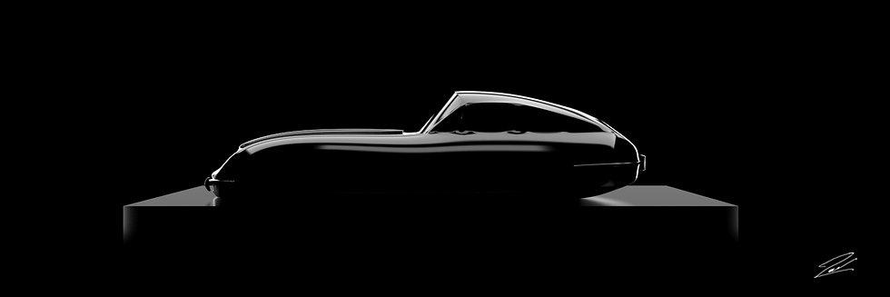 Jaguar Type E 105cmx35cm