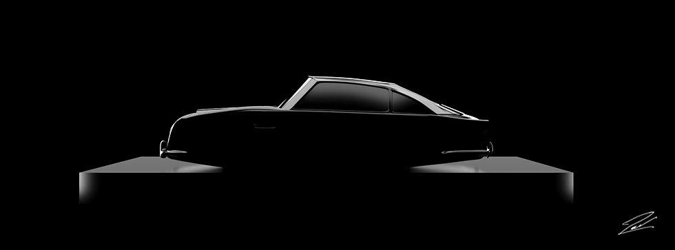 Aston Martin DB5 135cmx50cm