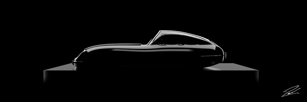 Jaguar Type E 75cmx25cm
